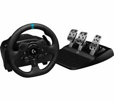 LOGITECH G923 Steering Racing Wheel & Pedals PS4 & PC Game Black - Currys