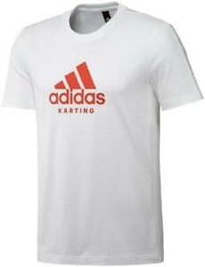 Adidas Karting Tee / T-Shirt White/Red