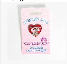 Badge loveable cow design Best Friends Forever MessageMoo Pin