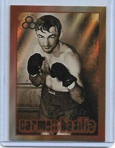 "1996 RINGSIDE ""SPOTLIGHT GOLD"" CARMEN BASILIO AUTOGRAPH BOXING CARD ~ CASE HIT!"
