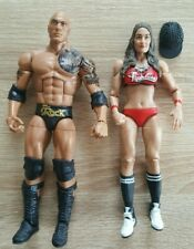 WWE Mattel Elite The Rock, Nikki Bella Wrestlingfiguren unbespielt top Zustand