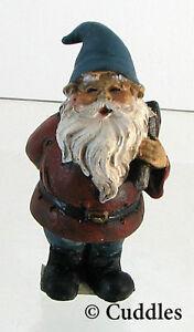 Gnome Pick Axe Blue Hat Figurine Ganz Fairy Garden Outdoor Mini Nature Plant