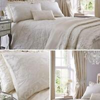 Cream Duvet Covers Filigree Textured Jacquard Quilt Cover Luxury Bedding Sets