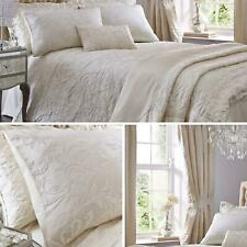 Cream Duvet Covers Filigree Textured Jacquard Quilt Cover Luxury Bedding Sets