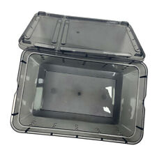 Plastic Reptile Food Feeding Container Turtle Hatching Cage for Snakes