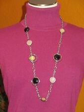 long black beige silver clear Lane Bryant Nwt $30 women's necklace