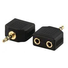 5 Stück Stereo Klinke verteiler Weiche Adapter 3,5mm vergoldet