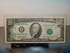 1993 $10 New York FRN 30% Wet Ink Transfer ErRor Reverse Obverse Fullhouse Note