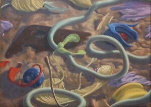 JAMES FREEMAN-Lancaster, PA Artist-Original Signed Oil-Magic Realism Still Life