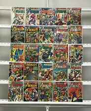 Vintage Avengers Marvel  25 Lot Comic Book Comics Set Run Collection Box