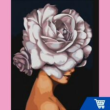 Diamond Painting Kit Fashion Roses 💎 30cm X 40cm 💎 Square Diamonds Full Drill