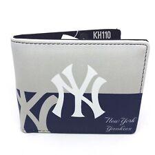 New York Yankees MLB Men's Printed Logo Leather BiFold Wallet