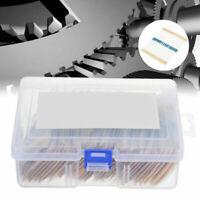 73 values 1460pcs 1% Precision 1/4W Metal Film Resistors Assortment Tool Kit