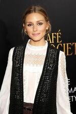 Olivia Palermo x Zara Long Suede Laser-cut Waistcoat with Fringing Black Small