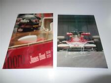 JAMES HUNT SIGNED REPRINT 1976 FORMULA ONE WORLD CHAMPION PHOTOGRAPHS