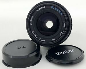 Vivitar C/FD Mount 28mm RL Edition Wide Angle F/2.8 MC Close Manual Focus Lens