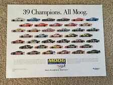 New listing 2004 NASCAR Moog 39 Champions Poster Dale Earnhardt Jeff Gordon Richard Petty++