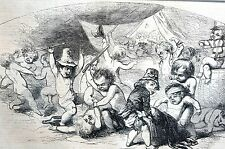 St. Patrick's Day Morning 1867 DRUNKS HANGOVERS FIGHTING Antique Engraving Print