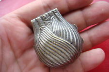 OLD RARE Antique WHEAT EAR BRASS SILVERED TRINKET BOX