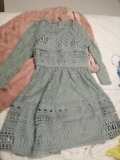 ASOS Premium Green Lace Dress Size 8 BNWT