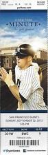2013 MLB GIANTS @ NY YANKEES BASEBALL UNUSED TICKET - MARIANO RIVIERA RETIREMENT