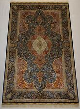 Royal Blue 400 KPSI Silk Rug 5 x 8 feet Carpet to Shine the Living room