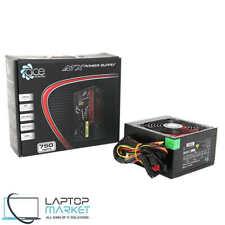 Brand New ACE 750W Black ATX Gaming PC 6 Pin PCIe PSU Power Supply 12cm Red Fan