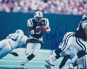 RAY LUCAS SIGNED NY JETS 8x10 STEINER PHOTO MIAMI DOLPHINS NEW ENGLAND PATRIOTS