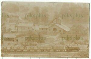 INDUSTRIAL RAILWAY POSTCARD WRITHLINGTON COLLIERY RADSTOCK REAL PHOTO USED 1913