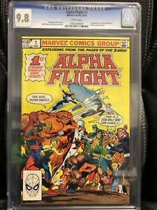 Alpha Flight #1 CGC 9.8 1983 1st app. Puck & Marrina ORIGIN