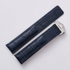 22MM MONACO LEATHER WATCH BAND STRAP DEPLOYMENT CLASP FOR TAG HEUER BLUE 3TC