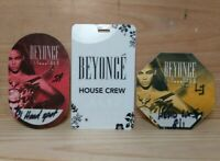 BEYONCE I Am...Your Concert Tour Satin Cloth Working Local Crew Pass House Crew