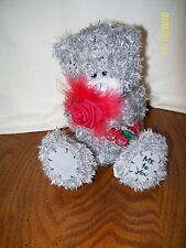 Me to You Carte Blanche Bear With Rose Gray Bean Bag Plush 5""