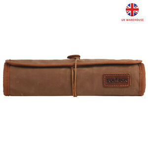 TOURBON Roll up Tool Storage Pouch Wax Canvas & Leather Repair Tool Organizer UK