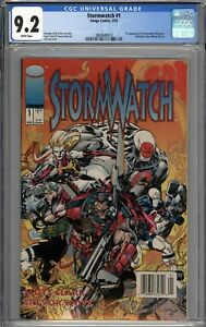 Stormwatch #1 CGC 9.2 NM- 1st Appearance of Stormwatch RARE Newsstand Variant WP