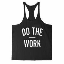 Gym Men Tank Top Muscle Workout Sleeveless Shirt Bodybuilding Sport Vest SIZE M