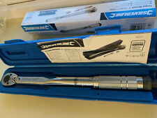"""Silverline 3/8"""" Drive Torque Wrench 8-105nm +Socket Adaptor Extension Reversible"""