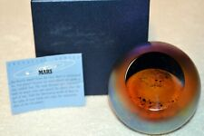 Mars With Light Base~Celestial Paperweight by Glass Eye~Made in USA~2233PWC 1