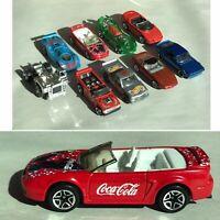 Lot of 9 Vintage Hot Wheels & Matchbox Chevy Corvette Coke Coca-Cola GTR Cars