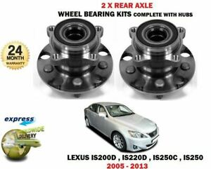 FOR Lexus IS200D IS220D IS250C IS250 2005-2013 NEW 2X REAR WHEEL BEARING HUB KIT