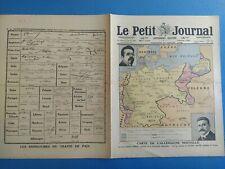LE PETIT JOURNAL N° 1.492 27/07/1919 Carte Allemagne Nouvelle / Traité de Paix