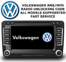 VW RNS510 RADIO NAVI UNLOCK CODE NAVIGATION DECODE SERVICE VWZ6Z7 & VWZ1Z7 ✅