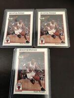 Nba 1991 Champs Bulls Scottie Pippen Base Lot X3 Bulls Great Last Dance