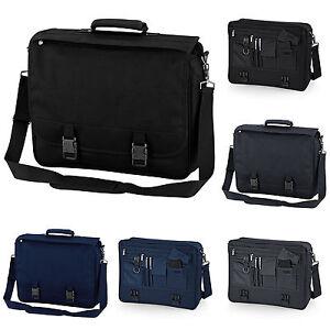 Black Briefcase Work College School Business Messenger Bag Satchel Navy Grey