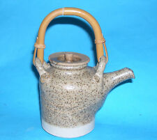 Studio Pottery - Attractive Quality Bachelor Display Teapot With Cane Handle.