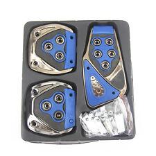 3pc blue No-drilling Non Slip Car Manual Non-Slip FootPedal Pad Covers for Mazda