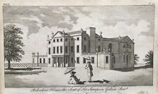 1776 Antique Print; Belvedere House, near Erith, S.E. London