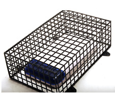 Alarm Bell Box Security Anti Vandal Cage / Guard - 42 x 25 x 10cm Black Steel