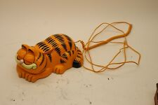 Vintage 1981 Garfield Phone Tyco Telephone Corded Eyes Open and Close Orange Cat