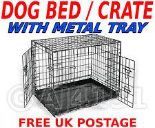 PET Dog Puppy Gabbia Pieghevole gabbia portante TAGLIA: Large per il trasporto & la formazione